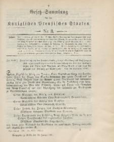 Gesetz-Sammlung für die Königlichen Preussischen Staaten, 30. Januar 1901, nr. 3.
