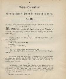 Gesetz-Sammlung für die Königlichen Preussischen Staaten, 30. März 1901, nr. 10.
