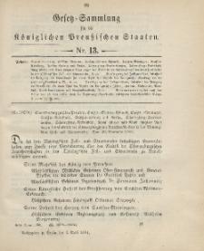 Gesetz-Sammlung für die Königlichen Preussischen Staaten, 3. April 1901, nr. 13.