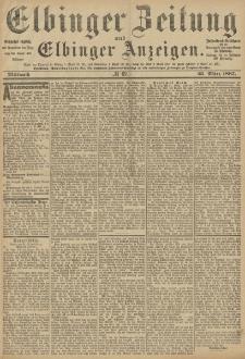 Elbinger Zeitung und Elbinger Anzeigen, Nr. 69 Mittwoch 23. März 1887