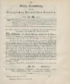 Gesetz-Sammlung für die Königlichen Preussischen Staaten, 11. Juni 1901, nr. 23.