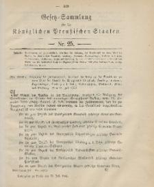 Gesetz-Sammlung für die Königlichen Preussischen Staaten, 31. Juni 1901, nr. 25.