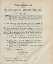 Gesetz-Sammlung für die Königlichen Preussischen Staaten, 27. September 1901, nr. 30.