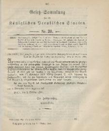 Gesetz-Sammlung für die Königlichen Preussischen Staaten, 14. Oktober 1901, nr. 31.