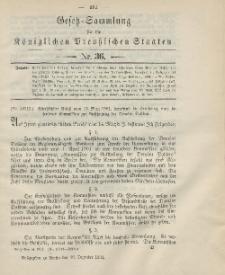 Gesetz-Sammlung für die Königlichen Preussischen Staaten, 30. Dezember 1901, nr. 36.