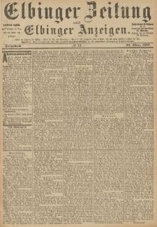 Elbinger Zeitung und Elbinger Anzeigen, Nr. 72 Sonnabend 26. März 1887