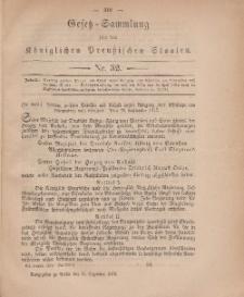 Gesetz-Sammlung für die Königlichen Preussischen Staaten, 11. Dezember, 1878, nr. 32.