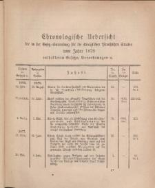 Gesetz-Sammlung für die Königlichen Preussischen Staaten (Chronologische Uebersicht), 1878