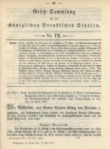 Gesetz-Sammlung für die Königlichen Preussischen Staaten, 19. Mai 1892, nr. 12.