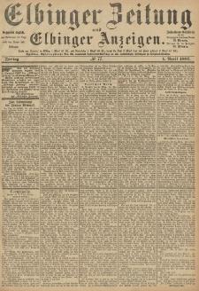 Elbinger Zeitung und Elbinger Anzeigen, Nr. 77 Freitag 1. April 1887