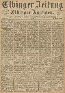 Elbinger Zeitung und Elbinger Anzeigen, Nr. 79 Sonntag 3. April 1887