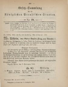 Gesetz-Sammlung für die Königlichen Preussischen Staaten, 12. September 1899, nr. 28.