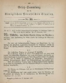 Gesetz-Sammlung für die Königlichen Preussischen Staaten, 27. September 1899, nr. 30.