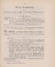 Gesetz-Sammlung für die Königlichen Preussischen Staaten, 22. März 1902, nr. 6.