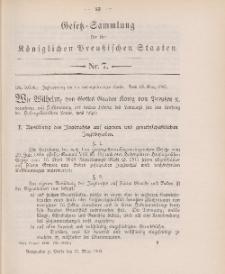 Gesetz-Sammlung für die Königlichen Preussischen Staaten, 21. März 1902, nr. 7.