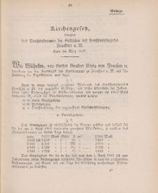 Gesetz-Sammlung für die Königlichen Preussischen Staaten (Kirchengesetz), 24. März 1902