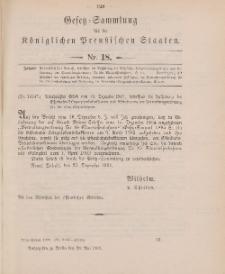 Gesetz-Sammlung für die Königlichen Preussischen Staaten, 28. Mai 1902, nr. 18.