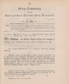 Gesetz-Sammlung für die Königlichen Preussischen Staaten, 18. Juni 1902, nr. 25.