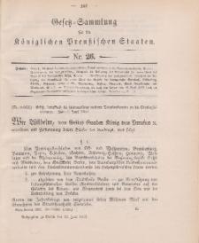 Gesetz-Sammlung für die Königlichen Preussischen Staaten, 21. Juni 1902, nr. 26.