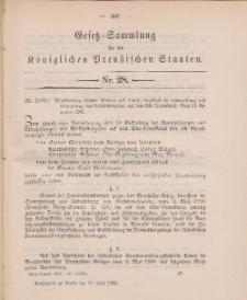 Gesetz-Sammlung für die Königlichen Preussischen Staaten, 30. Juni 1902, nr. 28.
