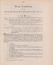 Gesetz-Sammlung für die Königlichen Preussischen Staaten, 4. Juli 1902, nr. 29.
