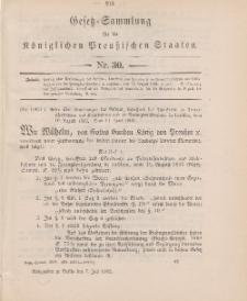 Gesetz-Sammlung für die Königlichen Preussischen Staaten, 7. Juli 1902, nr. 30.