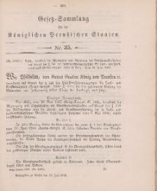 Gesetz-Sammlung für die Königlichen Preussischen Staaten, 25. Juli 1902, nr. 35.