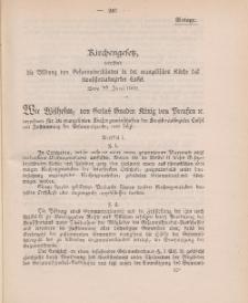 Gesetz-Sammlung für die Königlichen Preussischen Staaten (Kirchengesetz), 22. Juni 1902