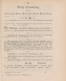 Gesetz-Sammlung für die Königlichen Preussischen Staaten, 9. September 1902, nr. 39.
