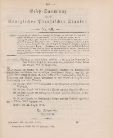 Gesetz-Sammlung für die Königlichen Preussischen Staaten, 12. September 1902, nr. 40.