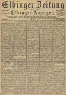Elbinger Zeitung und Elbinger Anzeigen, Nr. 89 Sonntag 17. April 1887