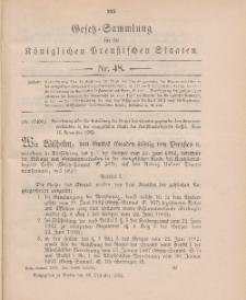 Gesetz-Sammlung für die Königlichen Preussischen Staaten, 16. Dezember 1902, nr. 48.