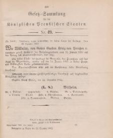 Gesetz-Sammlung für die Königlichen Preussischen Staaten, 24. Dezember 1902, nr. 49.