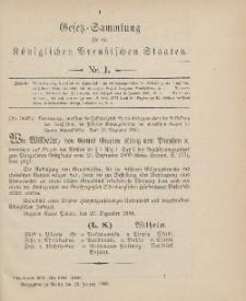 Gesetz-Sammlung für die Königlichen Preussischen Staaten, 13. Januar 1906, nr. 1.