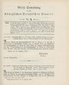 Gesetz-Sammlung für die Königlichen Preussischen Staaten, 27. Januar 1906, nr. 2.