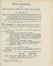 Gesetz-Sammlung für die Königlichen Preussischen Staaten, 2. März 1906, nr. 4.