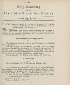 Gesetz-Sammlung für die Königlichen Preussischen Staaten, 13. März 1906, nr. 5.