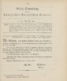 Gesetz-Sammlung für die Königlichen Preussischen Staaten, 22. März 1906, nr. 7.