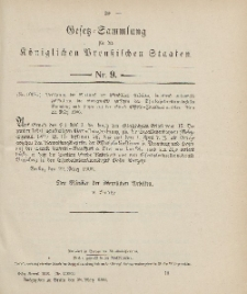 Gesetz-Sammlung für die Königlichen Preussischen Staaten, 28. März 1906, nr. 9.