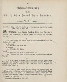 Gesetz-Sammlung für die Königlichen Preussischen Staaten, 31. März 1906, nr. 11.