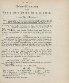 Gesetz-Sammlung für die Königlichen Preussischen Staaten, 4. April 1906, nr. 13.