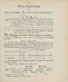 Gesetz-Sammlung für die Königlichen Preussischen Staaten, 12. April 1906, nr. 15.