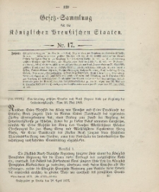Gesetz-Sammlung für die Königlichen Preussischen Staaten, 28. April 1906, nr. 17.