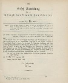 Gesetz-Sammlung für die Königlichen Preussischen Staaten, 27. April 1906, nr. 18.