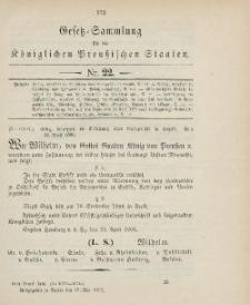Gesetz-Sammlung für die Königlichen Preussischen Staaten, 17. Mai 1906, nr. 22.