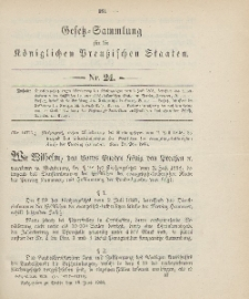 Gesetz-Sammlung für die Königlichen Preussischen Staaten, 18. Juni 1906, nr. 24.