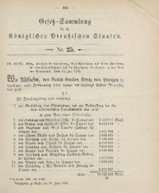 Gesetz-Sammlung für die Königlichen Preussischen Staaten, 21. Juni 1906, nr. 25.