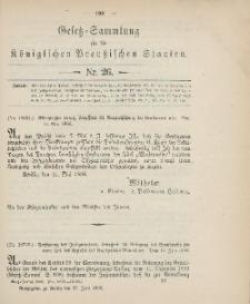 Gesetz-Sammlung für die Königlichen Preussischen Staaten, 21. Juni 1906, nr. 26.