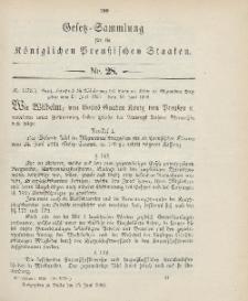 Gesetz-Sammlung für die Königlichen Preussischen Staaten, 28. Juni 1906, nr. 28.