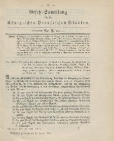 Gesetz-Sammlung für die Königlichen Preussischen Staaten, 27. Januar 1903, nr. 2.